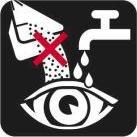 Избегать попадания в глаза