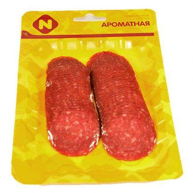 Колбаса Останкино Ароматная полусухая с регулятором кислотности охлажденная