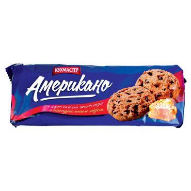 Печенье сдобное Кухмастер Американо с кусочками натурального шоколада
