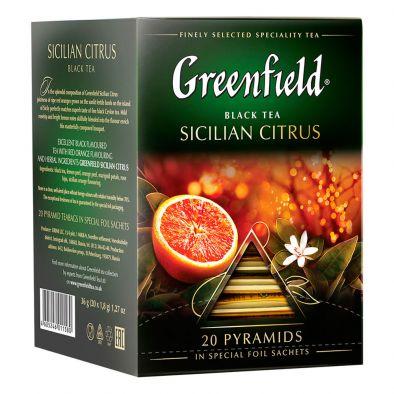 Чай Greenfield Sicilian Citrus чёрный байховый в пирамидках