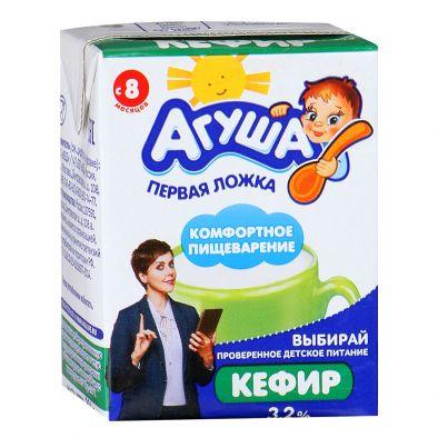 Кефир Агуша для детского питания с 8 месяцев