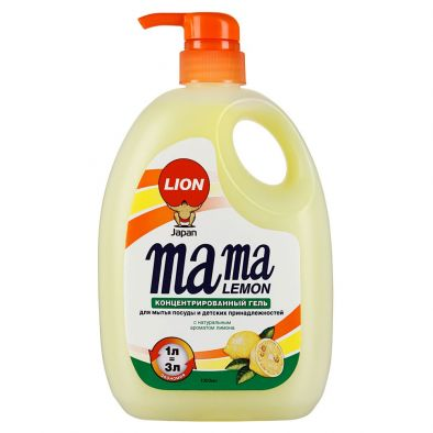 Гель концентрированный Mama Lemon для мытья посуды и детских принадлежностей с натуральным ароматом лимона