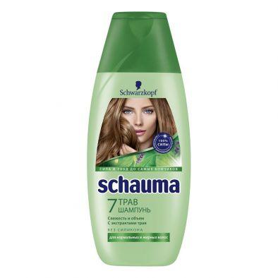 Шампунь Schauma 7 трав свежесть и объем с экстрактом трав