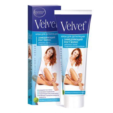 Крем для депиляции Velvet замедляющий рост волос