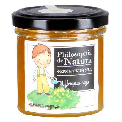 Этикетка мед Philosophia de Natura Цветущие сады фермерский