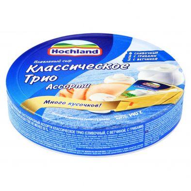 Сыр Hochland плавленный пастообразный Ассорти Классическое Трио