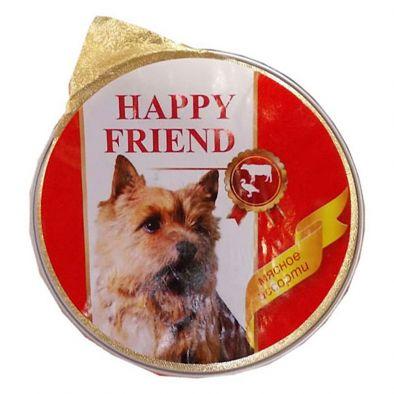 Мясной паштет Happy Friend мясное ассорти для собак