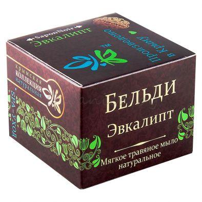 Мягкое травяное мыло Бельди Эвкалипт натуральное