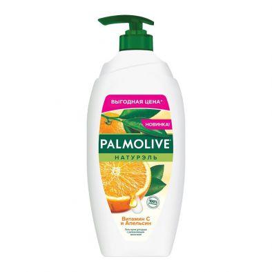 Этикетка крем-гель Palmolive Натурэль Витамин C и Апельсин с увлажняющим молочком