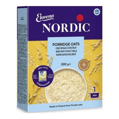 Этикетка хлопья овсяные Nordic