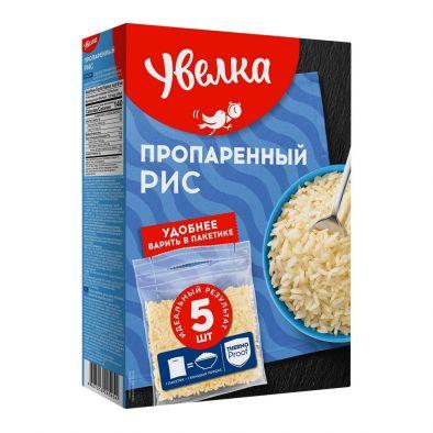 Этикетка рис Увелка пропаренный